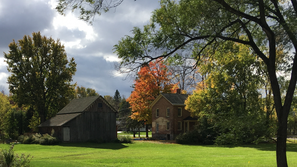 Viewscape of Harriet Tubman residence and barn