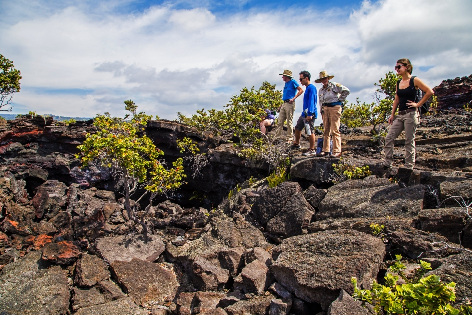 Guided hike at Hawaii Volcanoes National Park.
