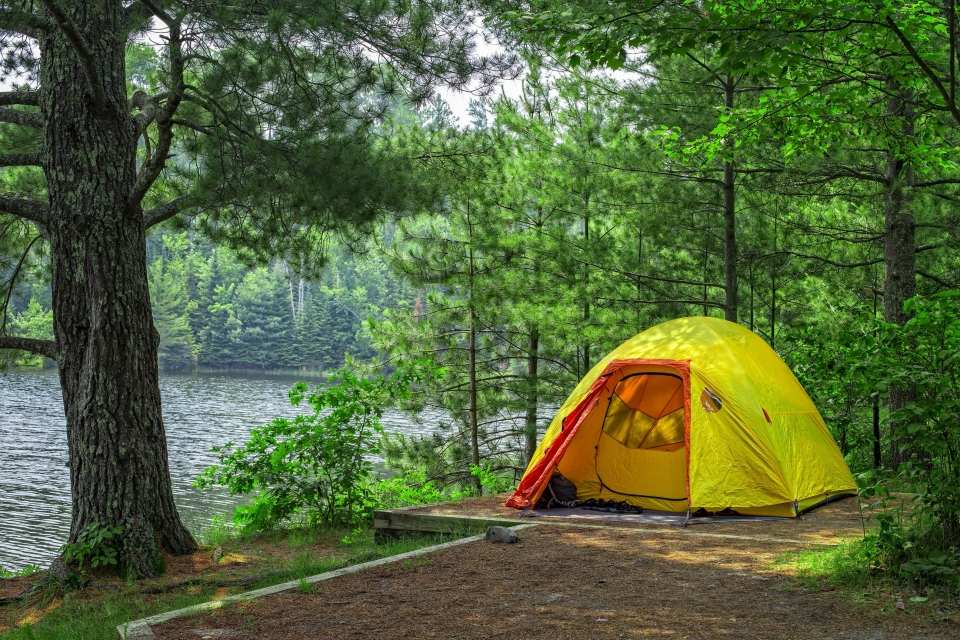 Camping at Lost Lake in Voyageurs National Park, Minnesota