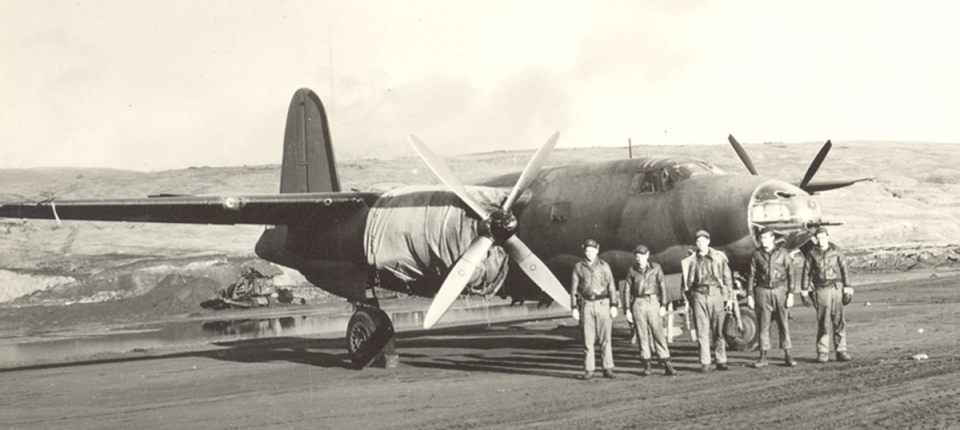 ohn Pletcher and his crew on October 28, 1942 at Adak, Alaska in the Aleutian Islands.
