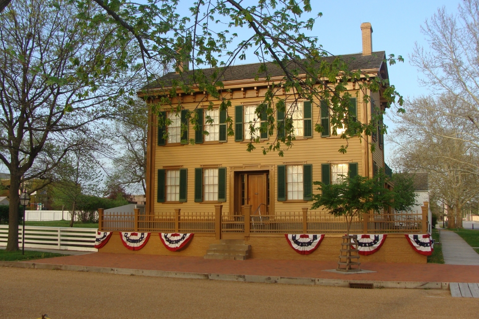 2-story building at the Lincoln Home National Historic Site