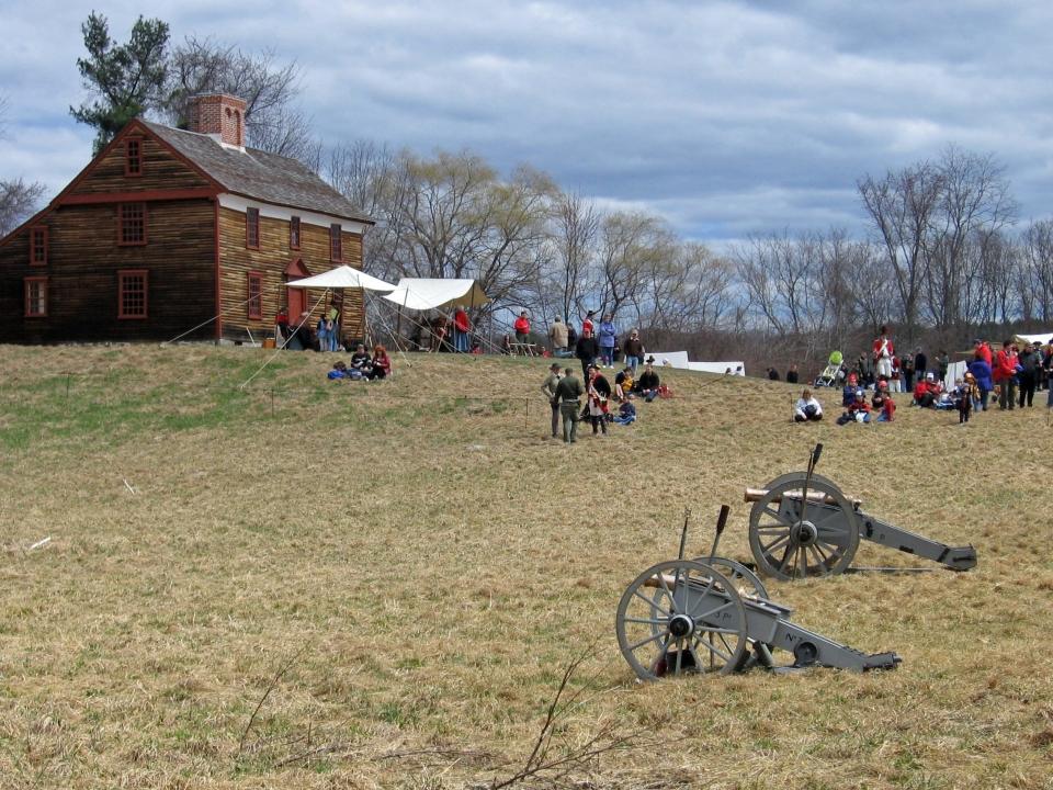 Cannons at Smith House at Minute Man National Historical Park