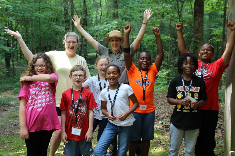 Students at Natchez Trace Parkway
