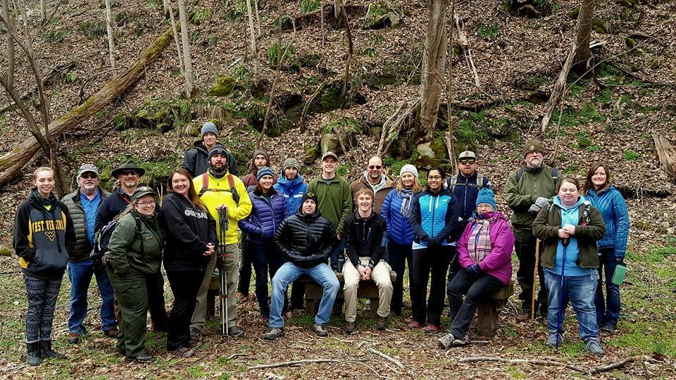 The Active Southern West Virginia group standing outside at the New River Gorge National River for a Get Active in the Park training