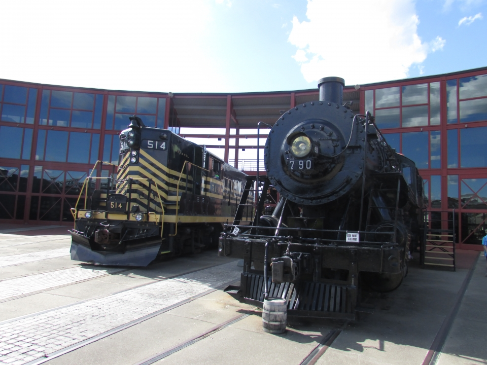 Two train engines
