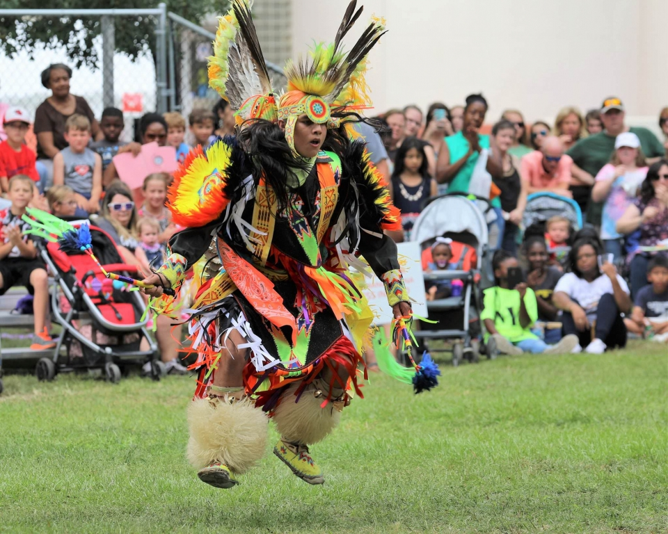 Ocmulgee National Monument Celebration dancer
