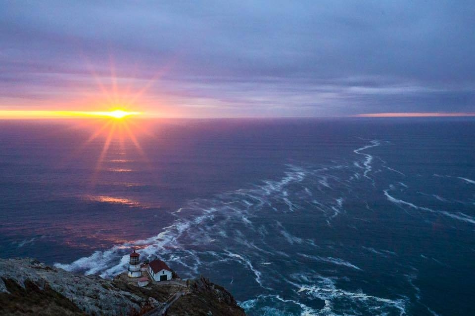 Sunset over the Point Reyes Lighthouse