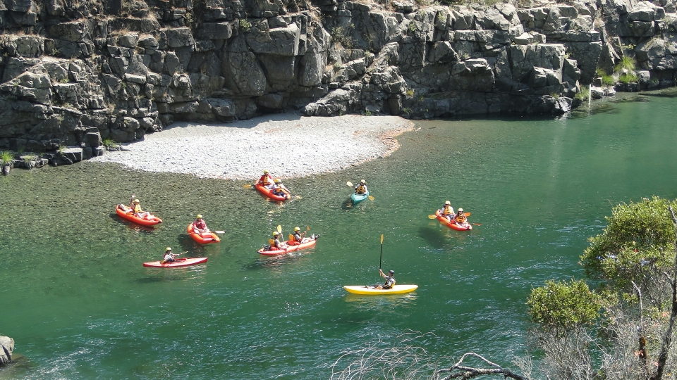 Kayakers in a ranger-led program at Redwood National and State Parks