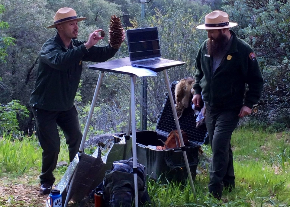 Rangers engage students in a hybrid learning program at Sequoia & Kings Canyon National Parks