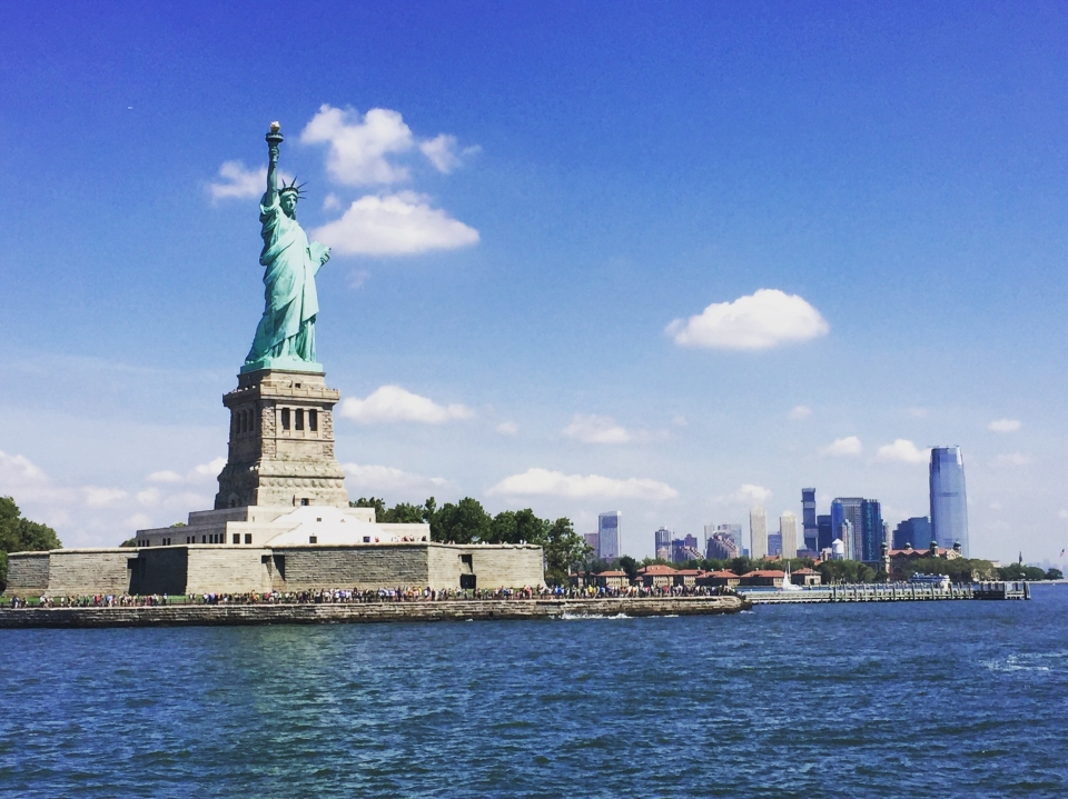 View of the Statue of Liberty from the water