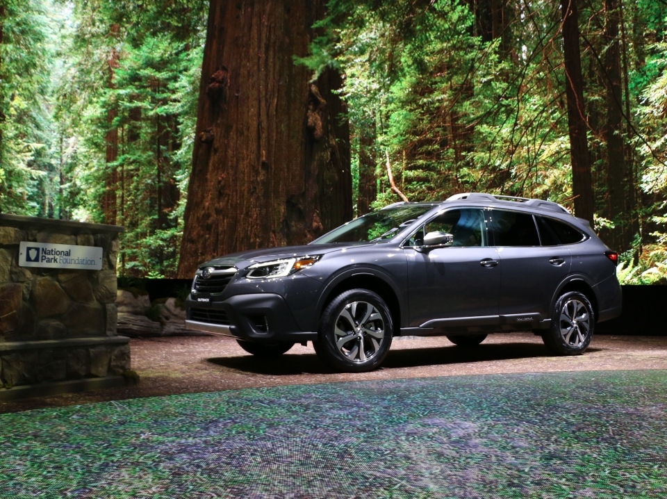 Debut of the Subaru Outback 2020 at the New York International Auto Show