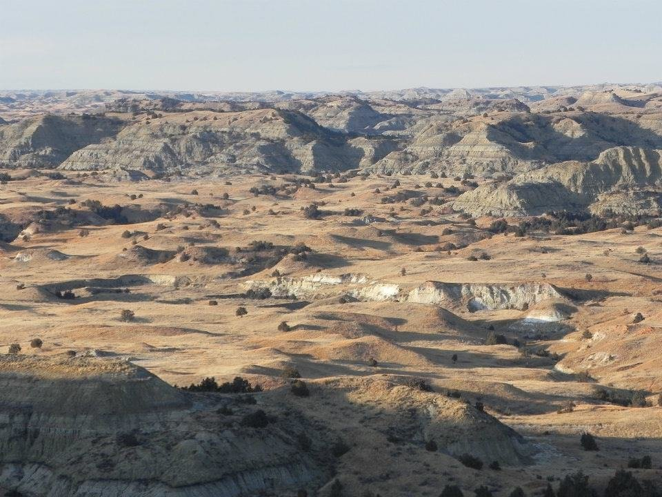 Landscape view of the valley from Buck Hill at Theodore Roosevelt National Park