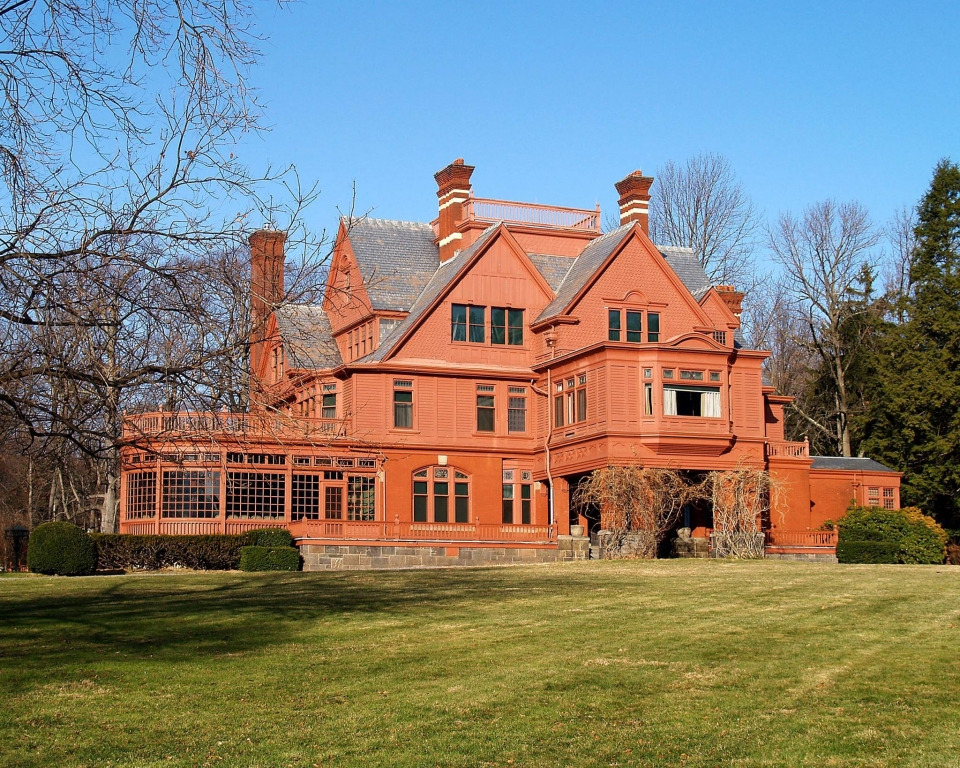 The red brick building of Thomas Edison National Historical Park