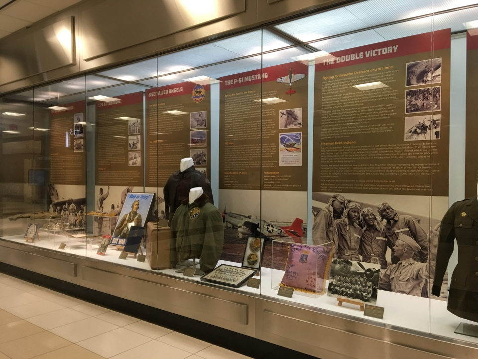 Exhibit and displays at the Tuskegee Airmen National Historical Park