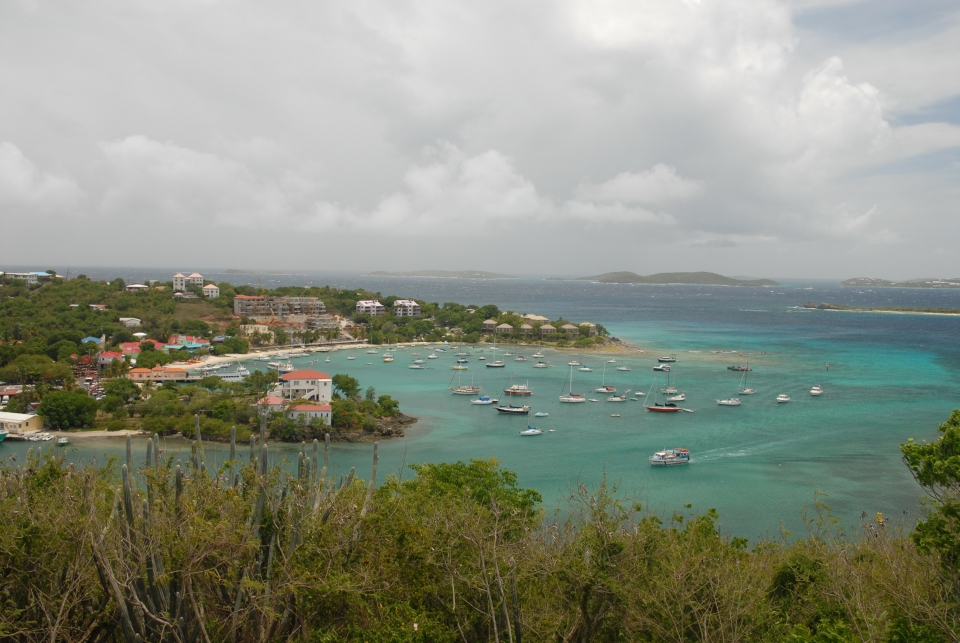 Overlooking Cruz Bay on St. John at the Virgin Islands National Park