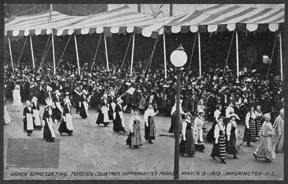 Women Representing Foreign Countries Suffragette's Parade