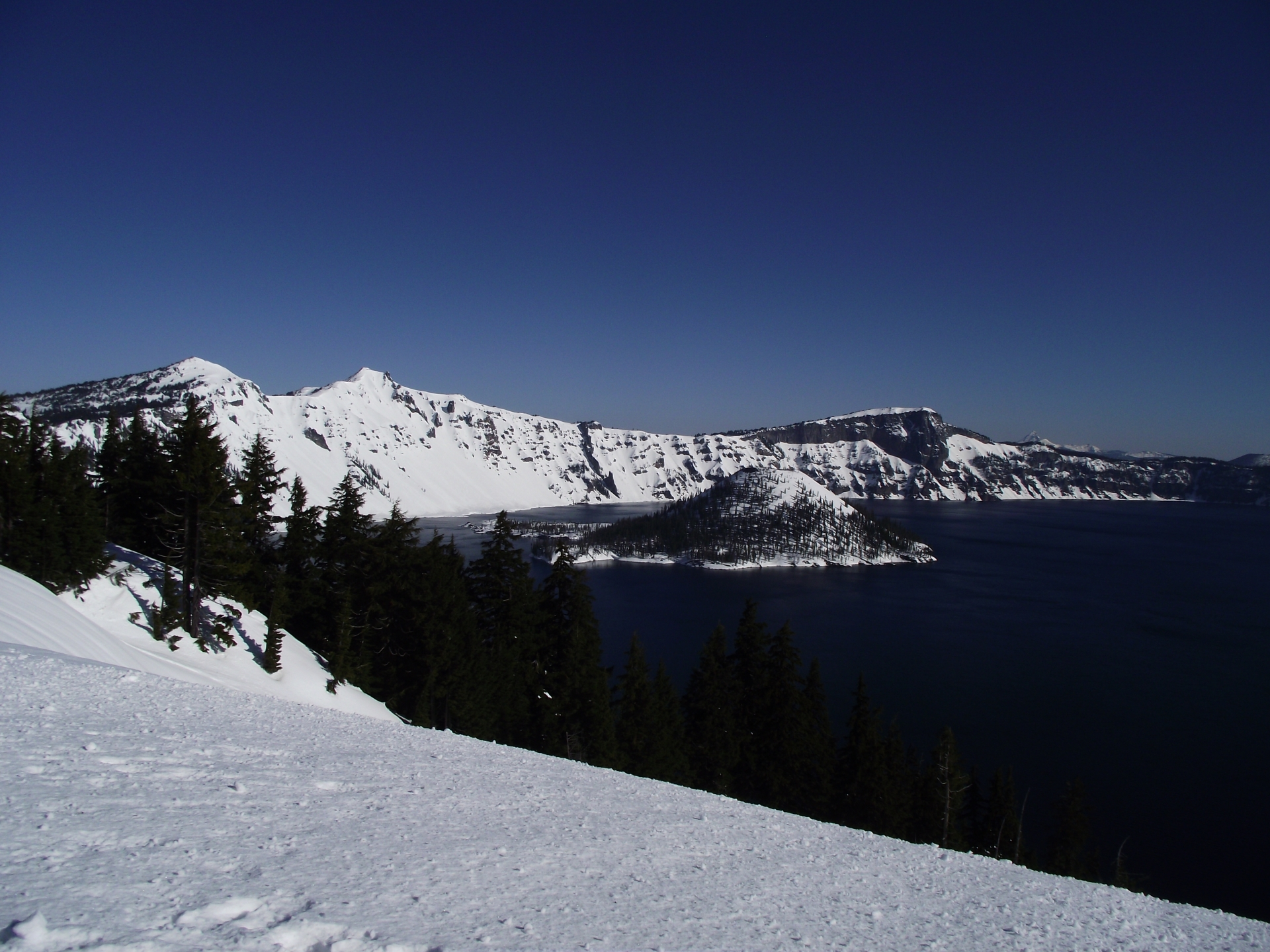 Deep Snow at Crater Lake