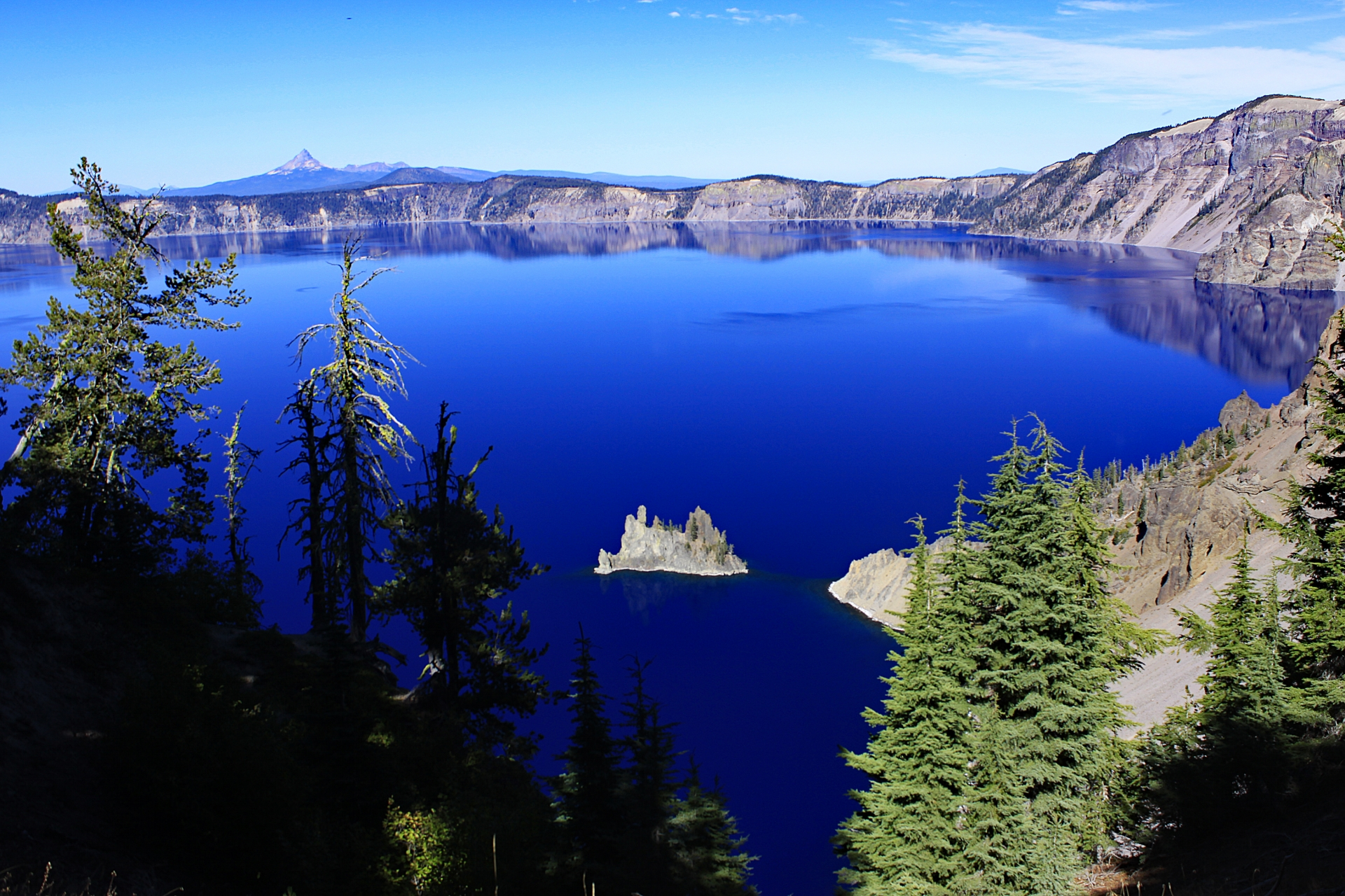 Crater Lake is the bluest blue you can ever see.