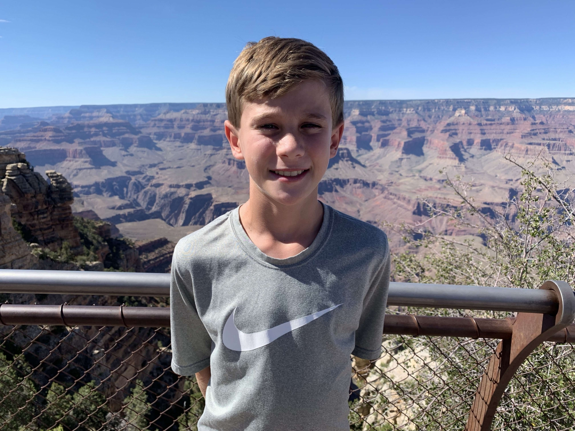 J.W. Powell Descendant at the Grand Canyon during its Centennial
