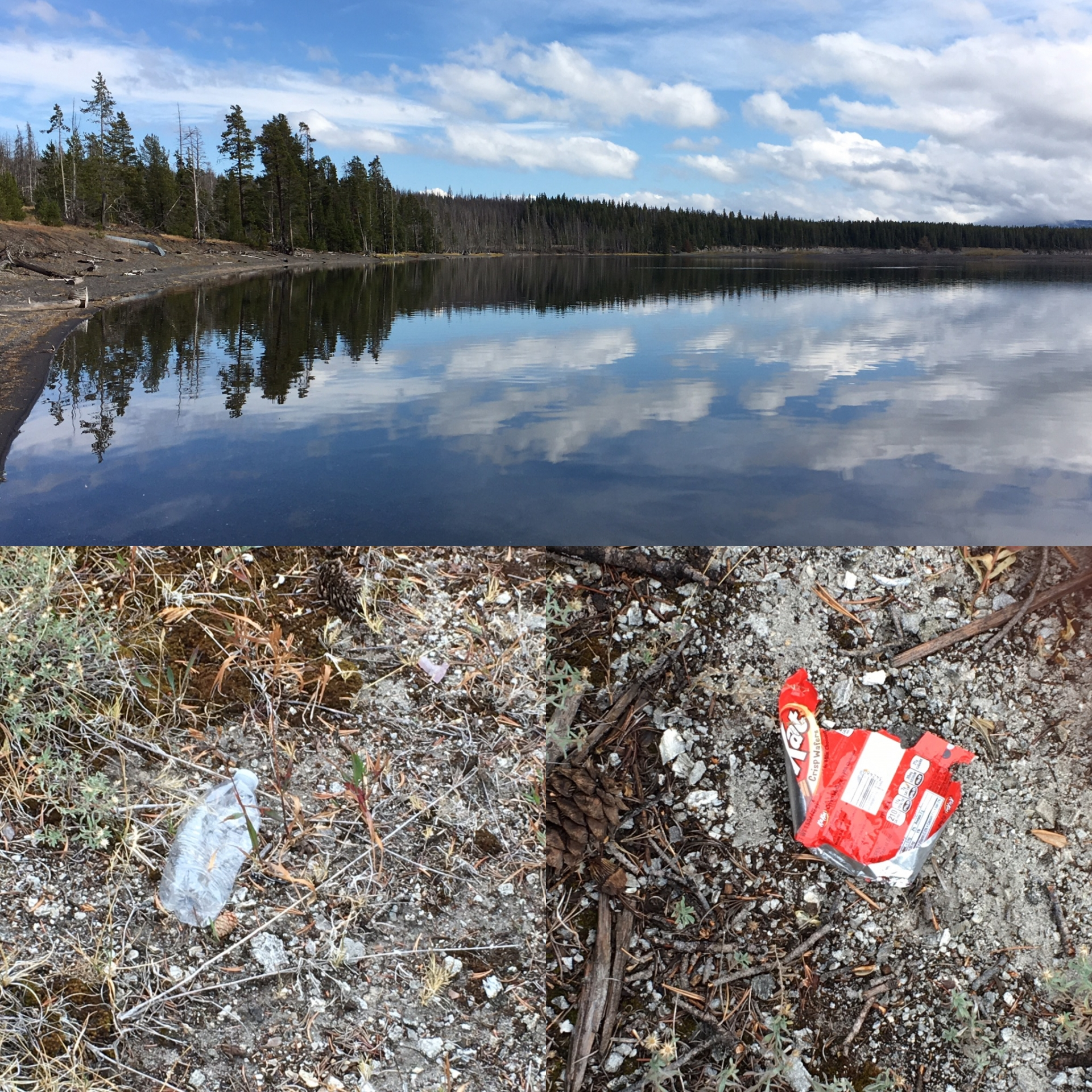 Visit national parks responsibily and make a pact to pack it out (don't leave litter behind)