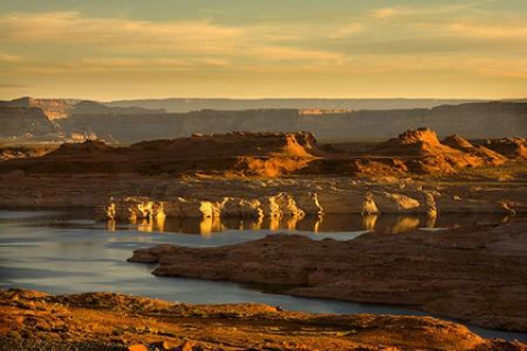 Rock formation and waters at Lake Powell