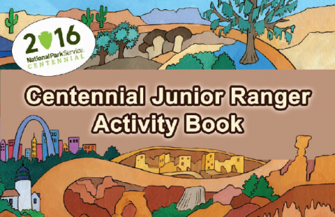 Infographic displaying cover of Junior Ranger Activity Book