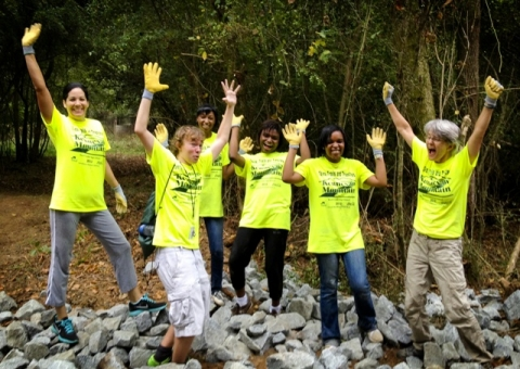 Young adults participating in 21st Century Conservation Service Corps initiative to volunteer in parks