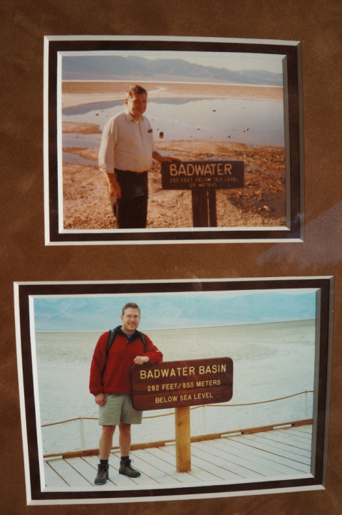 Family pictures at Badwater Basin