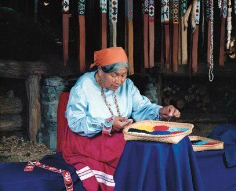 Native American woman at Blue Ridge Heritage Area