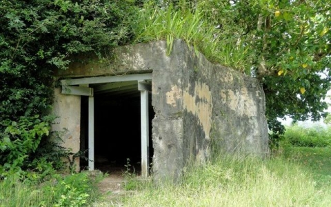 Historic concrete bunker at the War in the Pacific National Historical Park