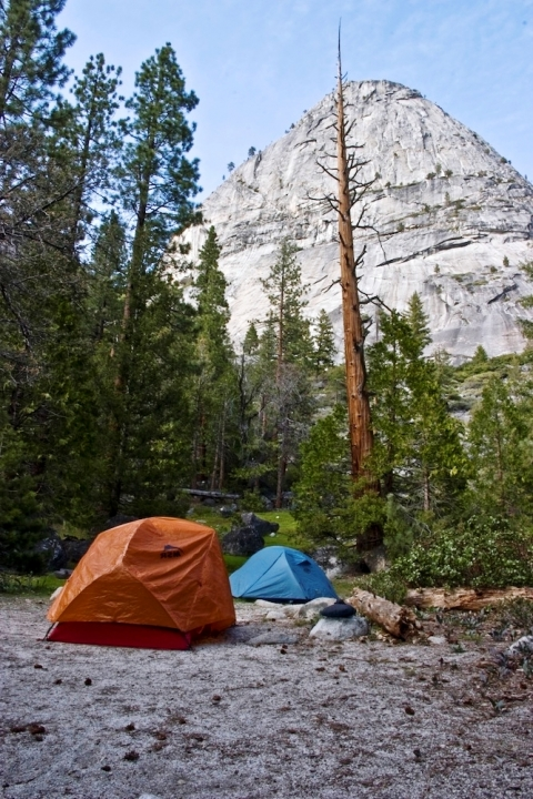 Two tents in Yosemite National Park