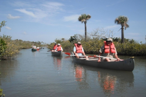 Group of canoers paddling through Canaveral National Seashore