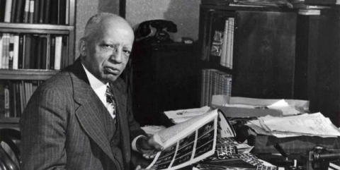 Carter G. Woodson in office