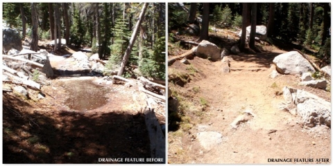 Improvements to park trail, reconstruction of drainage