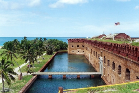 Building at Dry Tortugas National Park