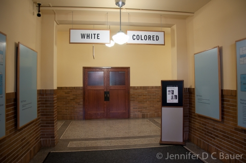 "Historic Signs Reading ""White\"" and ""Colored"""