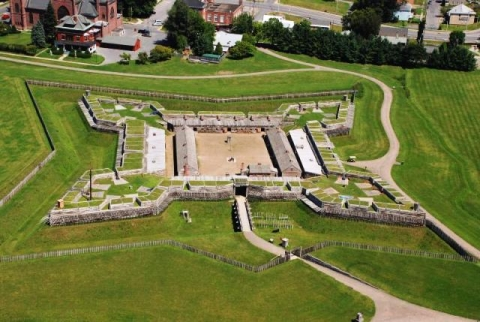 Aerial view of Fort Stanwix National Monument in New York