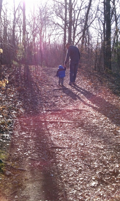 Frank Barrows and Son Hiking