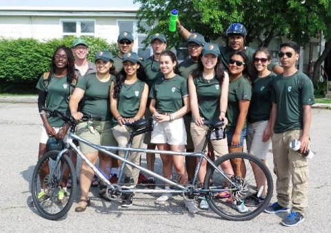 "Young adults participating in cycling with a ""Your Park! Your Health! (YPYH)"" park program"