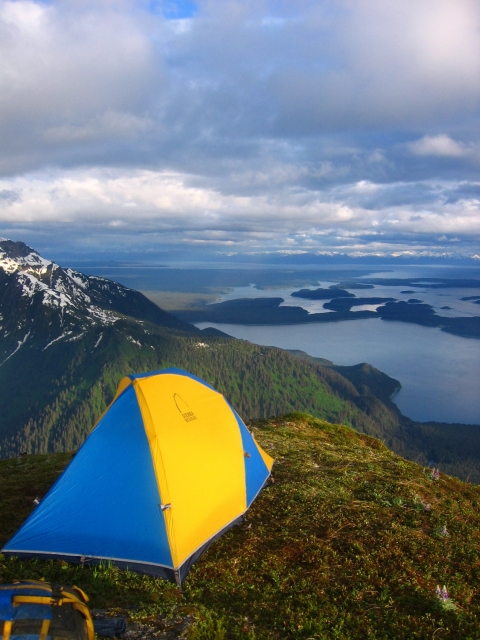 Tent camping at Glacier Bay National Park
