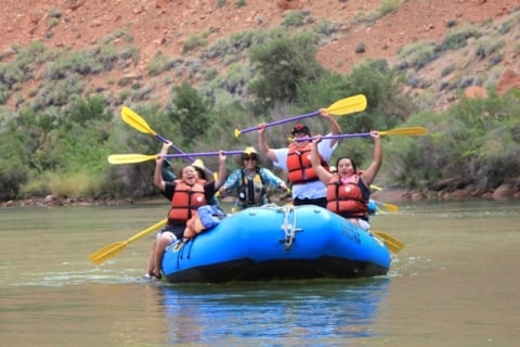 People on raft in Glen Canyon