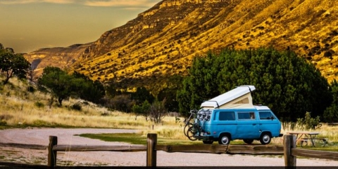 Van in the Guadalupe Mountains