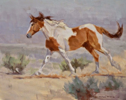 Painting of horse by Karen McLain