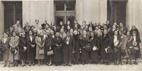 Mary McLeod Bethune and fellow activists