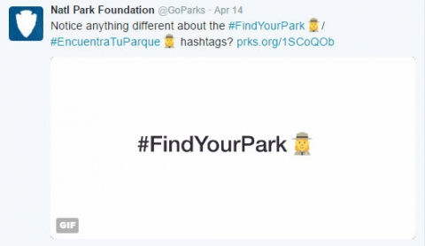 National Park Foundation Park Ranger Emoji Twitter Hashtag