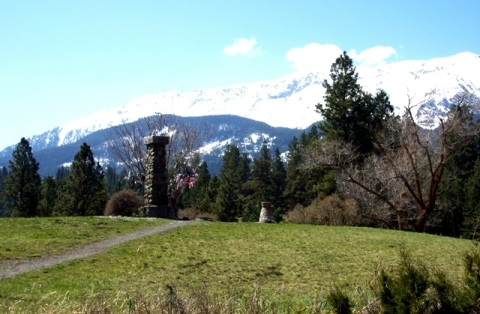 Snow-capped mountains at Nez Perce National Historic Park