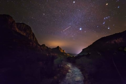 Photo of Orion over Zion National Park, taken by Andy Porter