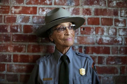 National Park Service Ranger Betty Soskin in uniform