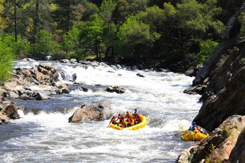 White water rafting down Tuolumne River
