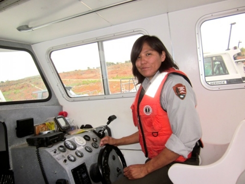 GLCA as a biological science aid driving boat